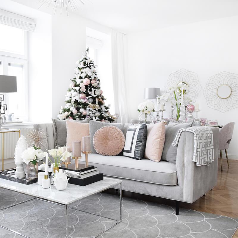 Wohnzimmer im Weihnachts-Styling