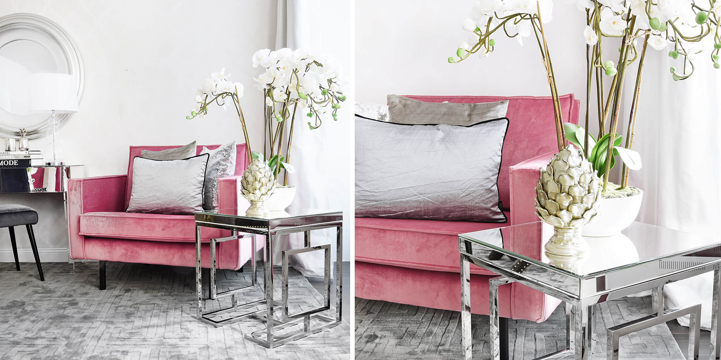 Fancy & Elegant! Flur-Look in Pink und Grau