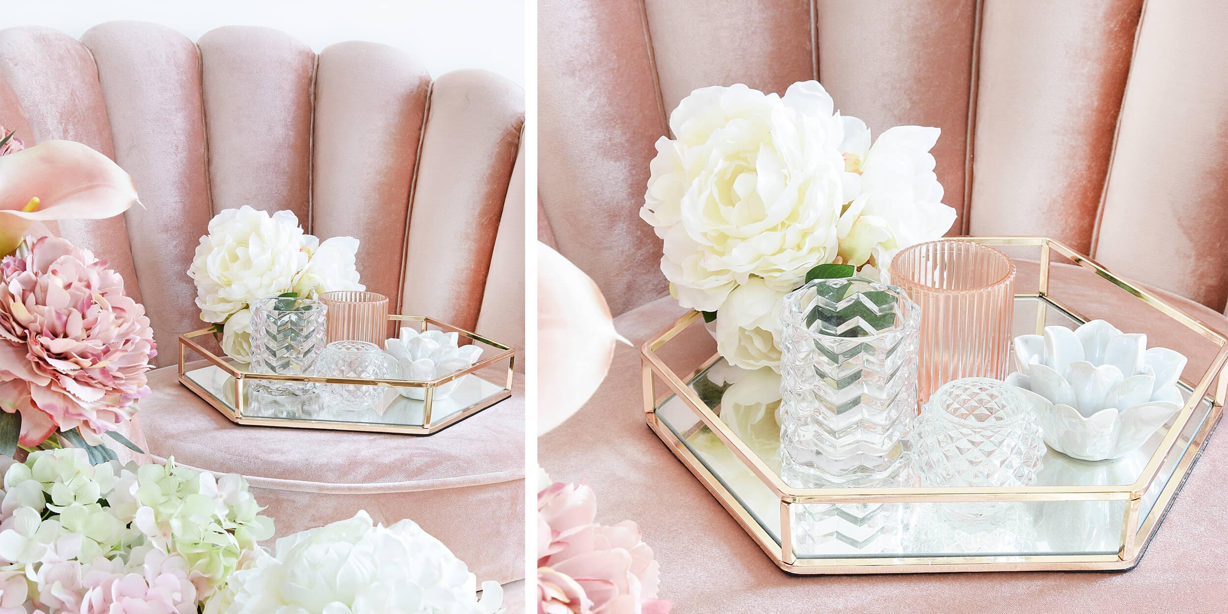 Frühlingsgefühle! Teelichthalter in Rosa & Weiß