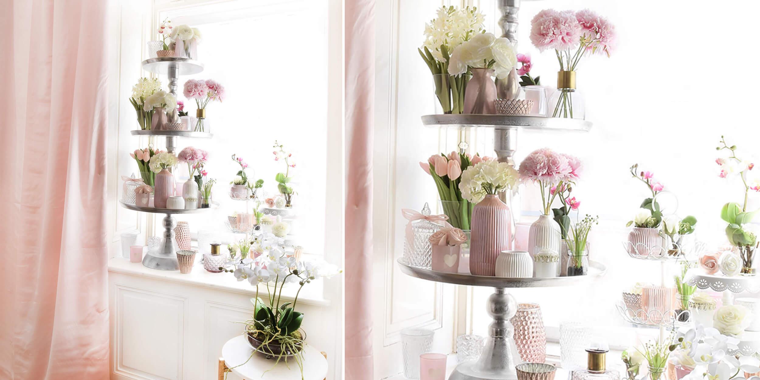 Frühlingshafte Fensterdeko :)