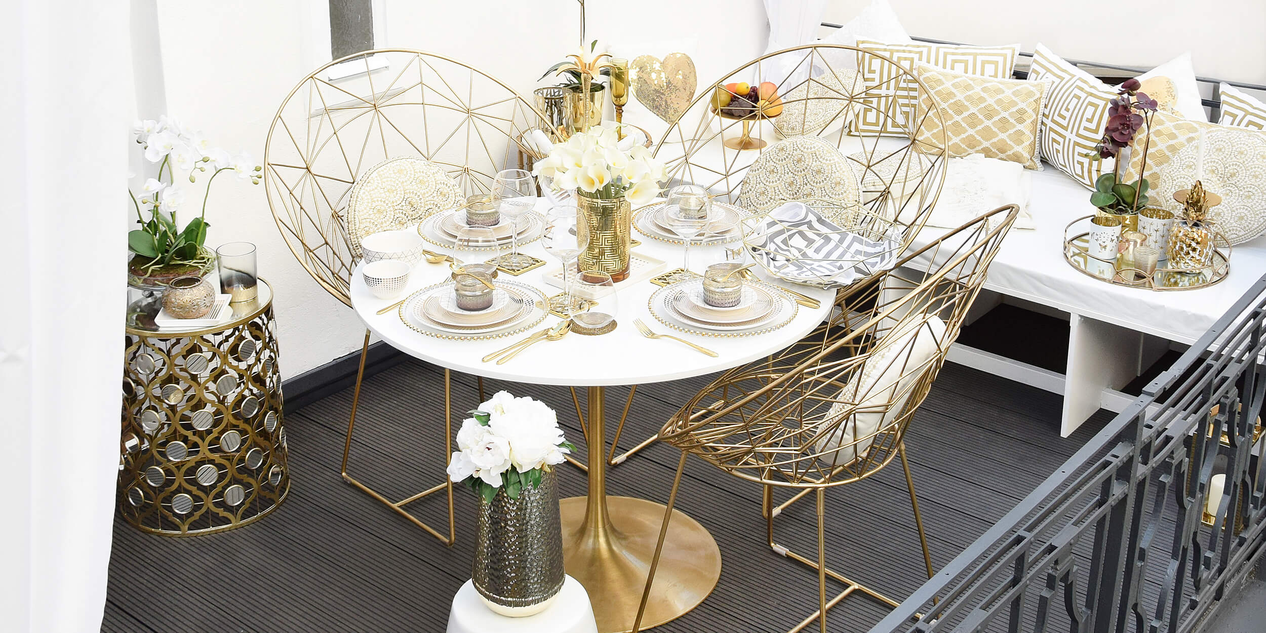 Get the Look: Glamorous Gold Balcony