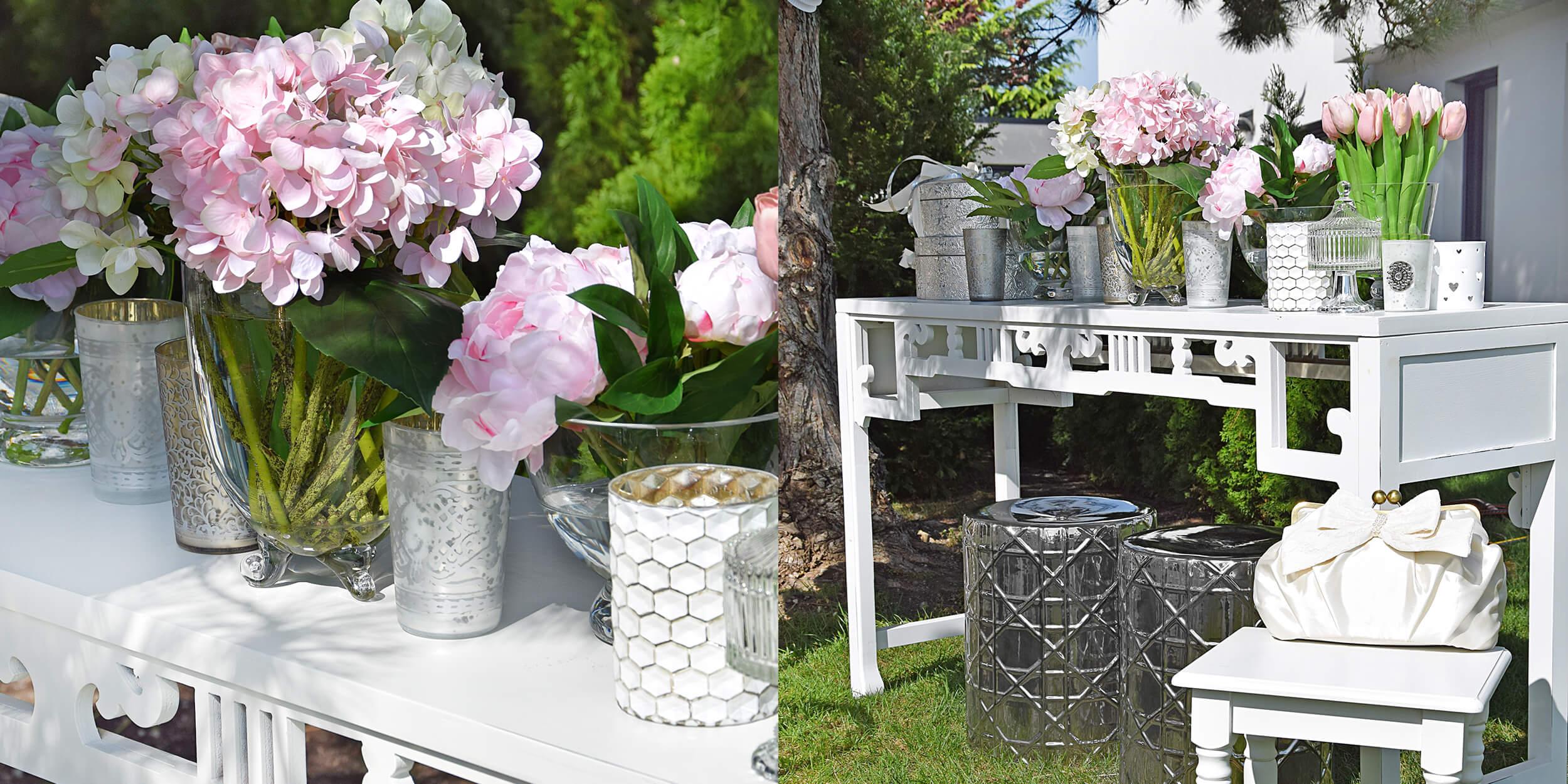 Hochzeitsdeko Kunstblumen In Zarten Rosa Instashop