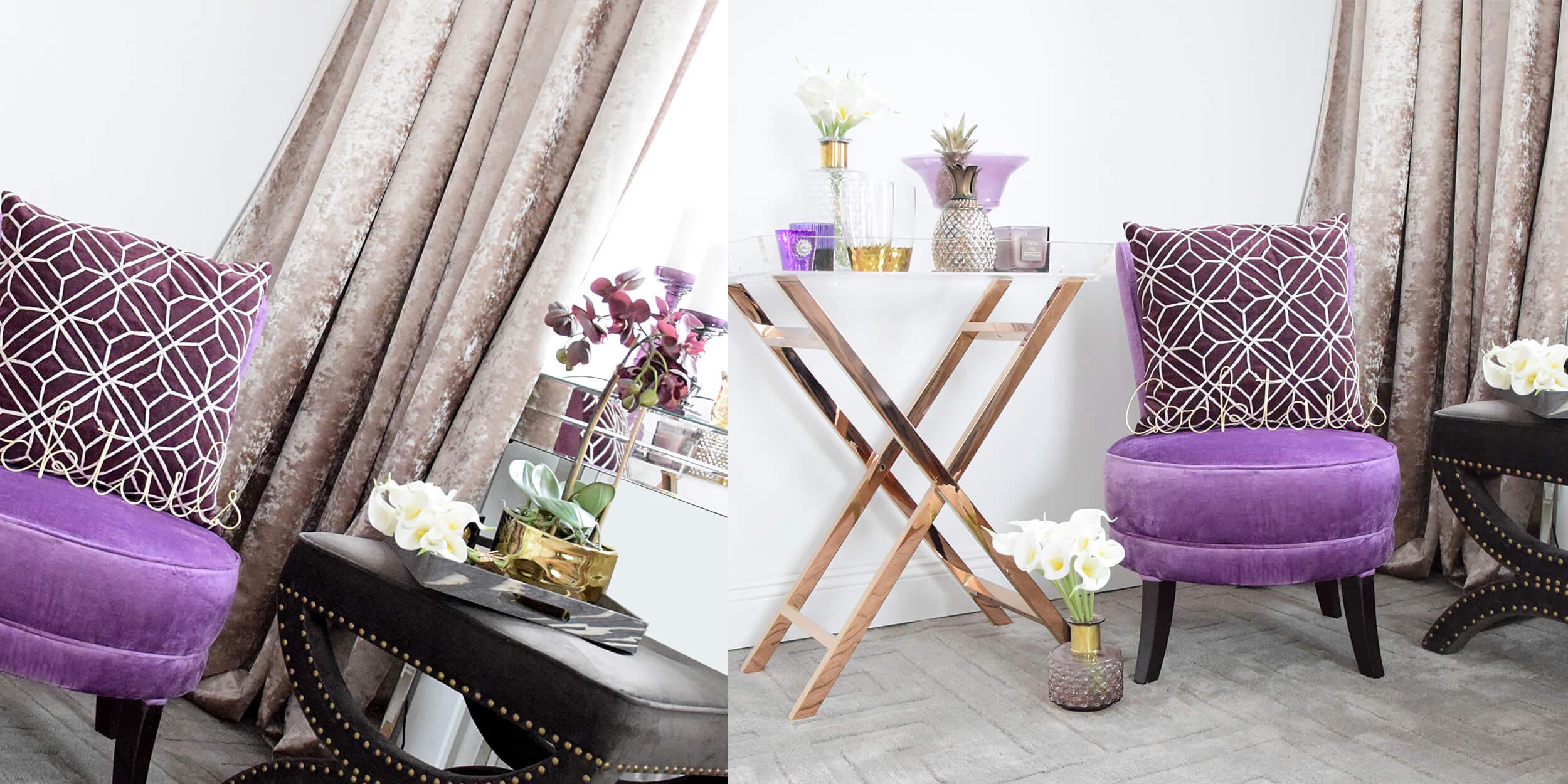 Wohnaccessoires in den Trendfarben 2018 - lila & violett
