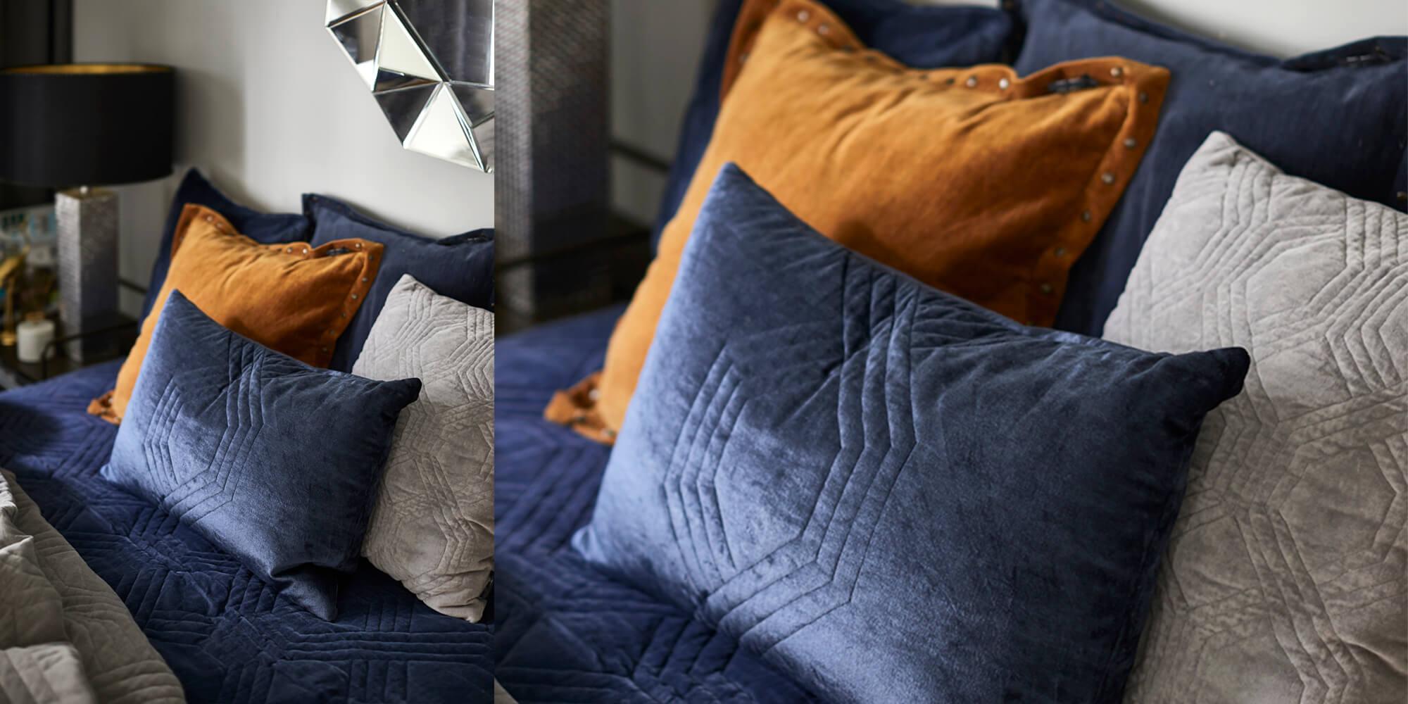 Farbenfroher Mix: Orange & Blau