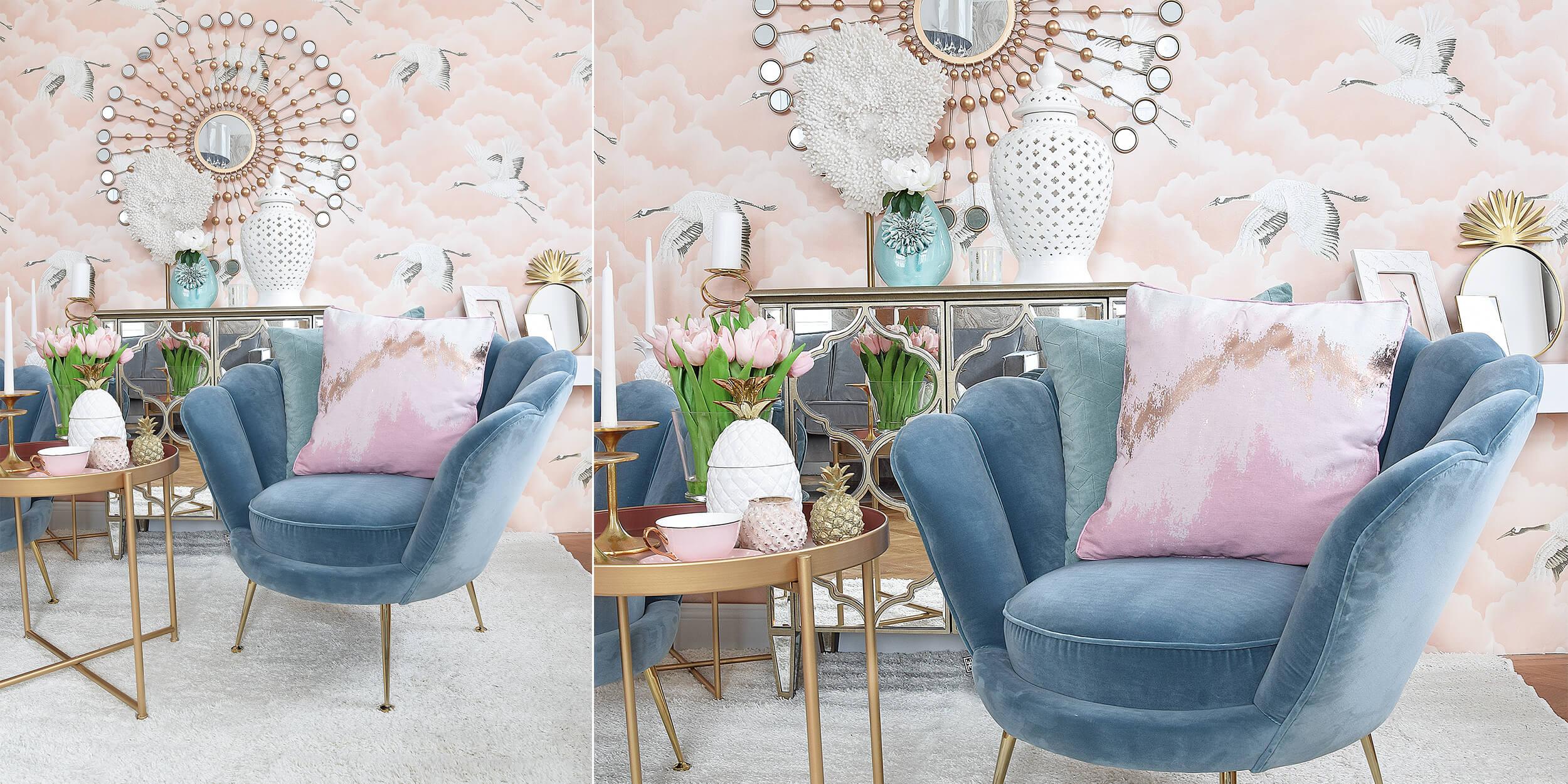 Lounge-Goals - Samtsessel in Muschelform