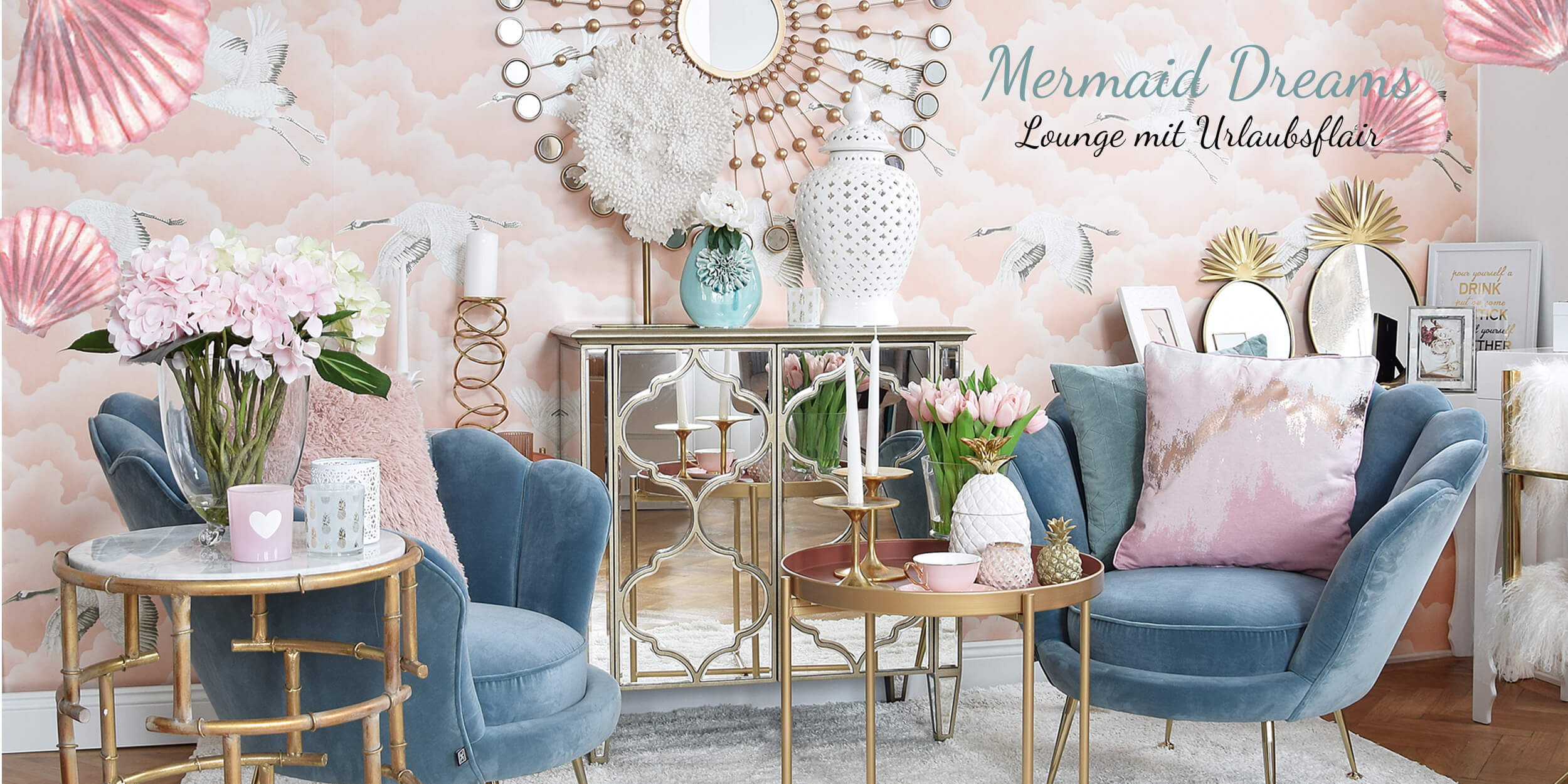 Get the Look: Mermaid Dreams Wohnzimmer-Lounge