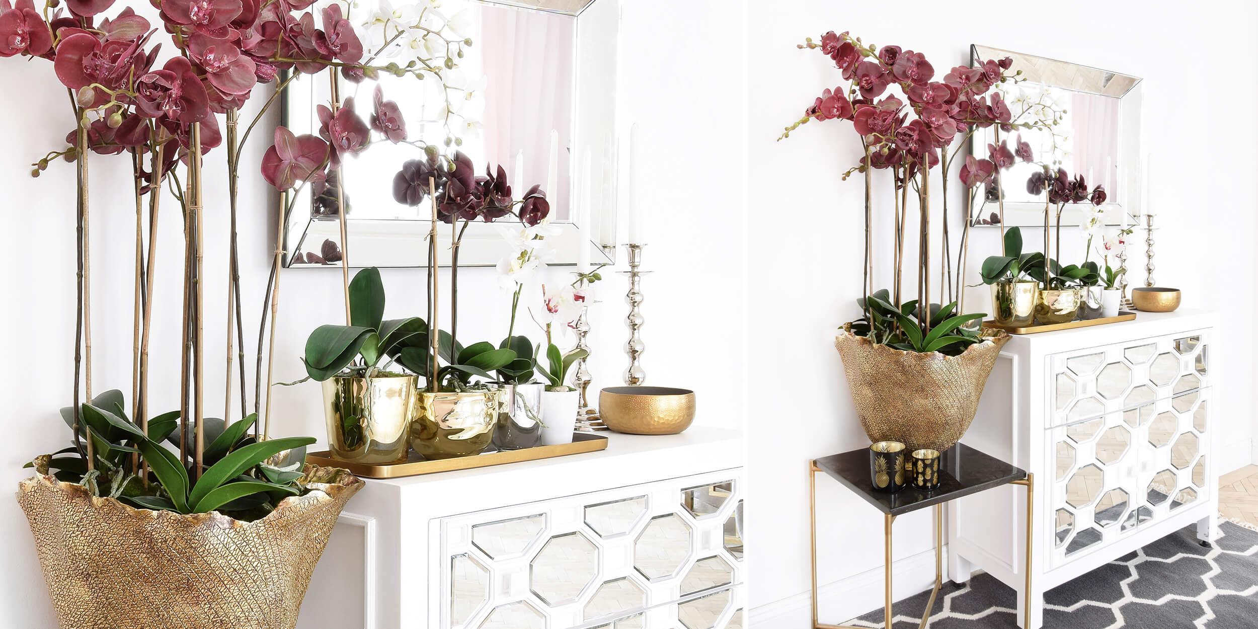 Orchideen Kombi Frühlingslook Mit Kunstblumen Instashop
