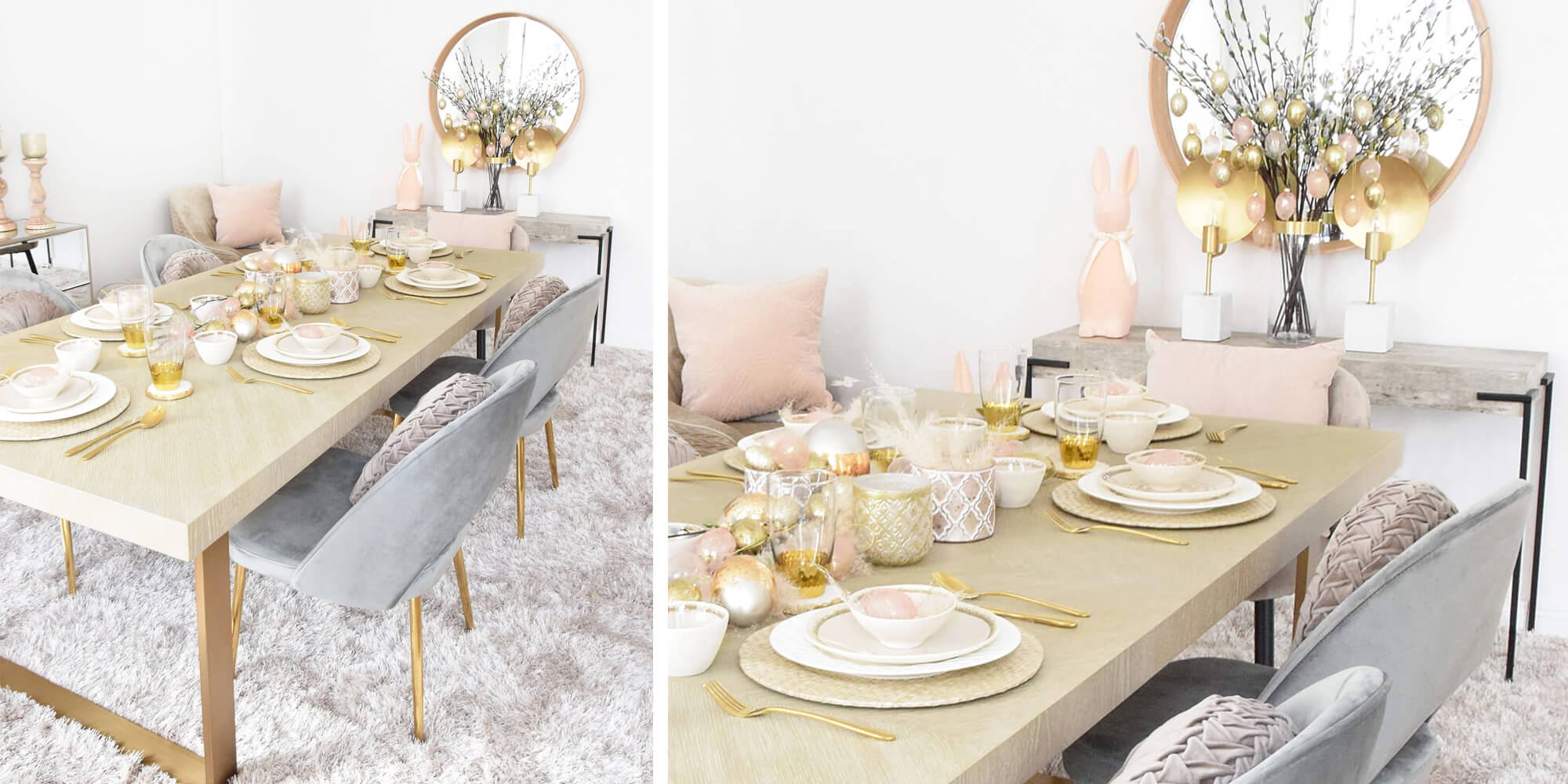 Natural Easter Table Decor