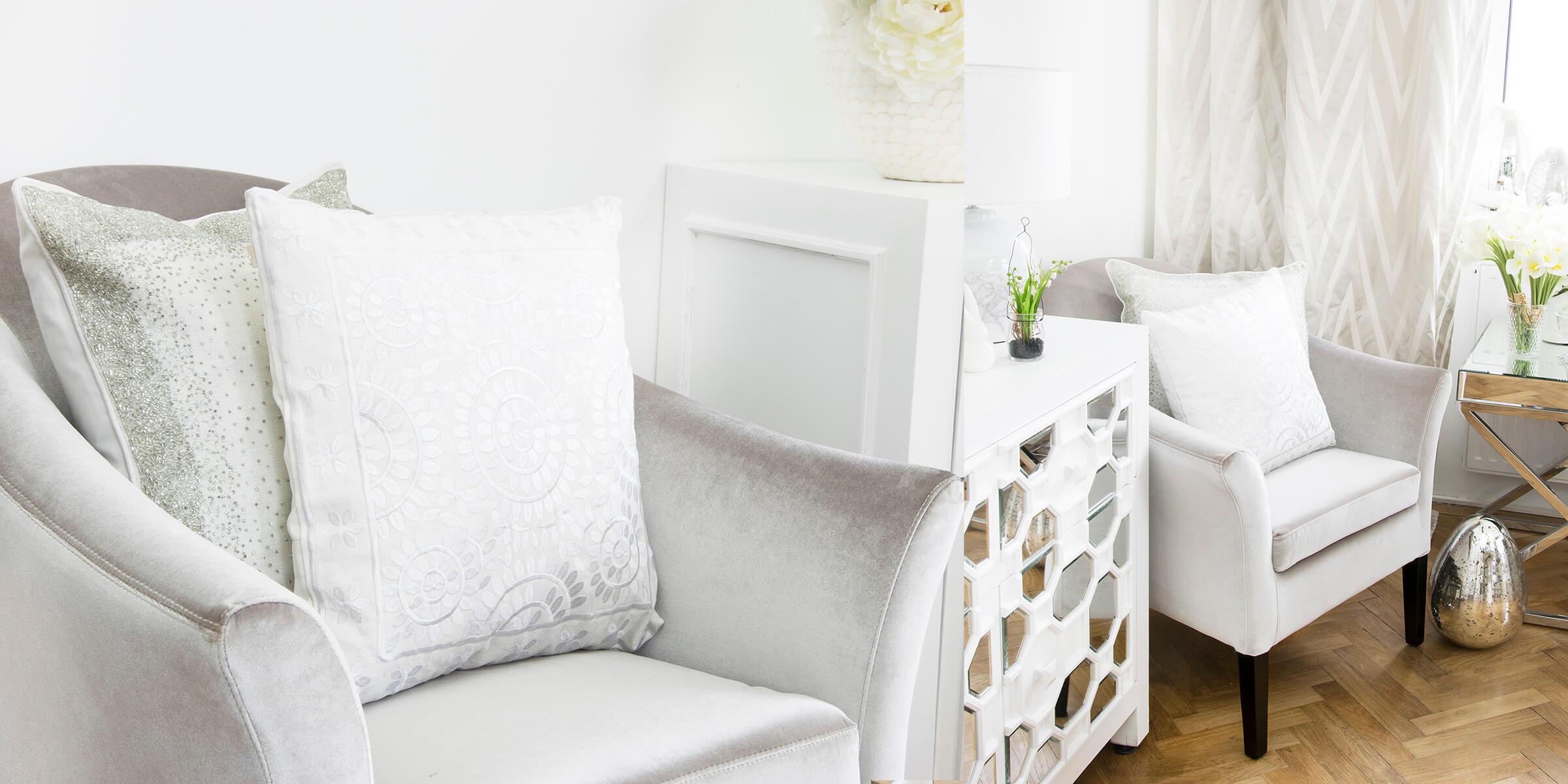 Glamouröser Samt-Sessel mit Wow-Effekt