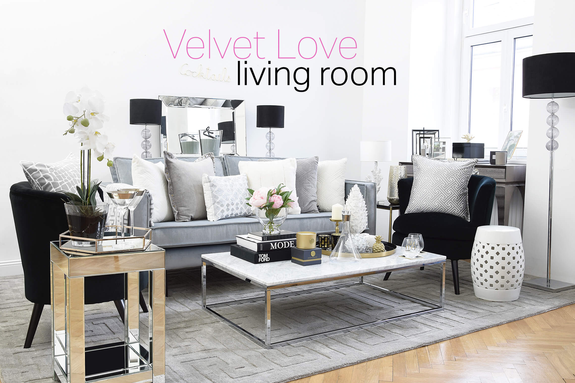 new year new look velvet love wohnzimmer instashop. Black Bedroom Furniture Sets. Home Design Ideas