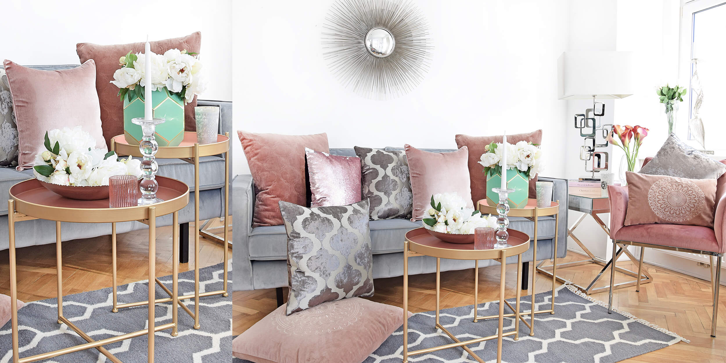 Frühlingsvorfreude! Zarte Blush-Töne für's Sofa :)
