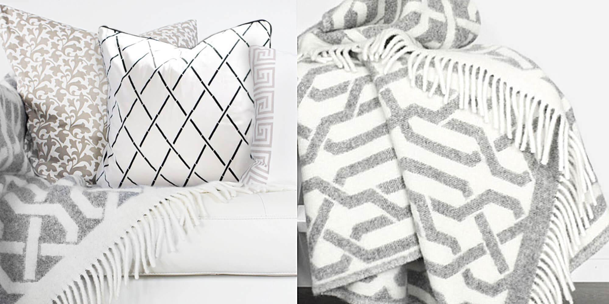 trendiges Kuschelnest: geometrische Muster-Kombi