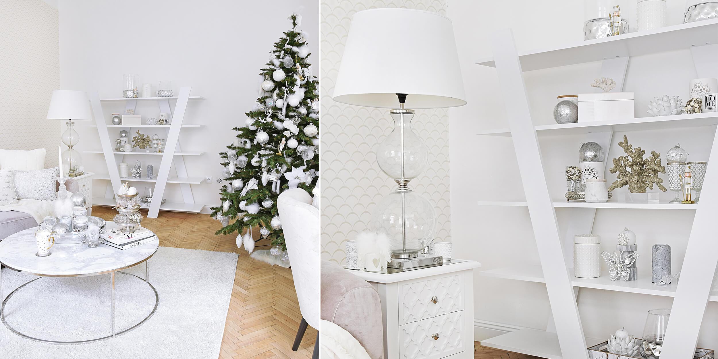 Silver & White – Weihnachtliche Regal-Deko - #InstaShop