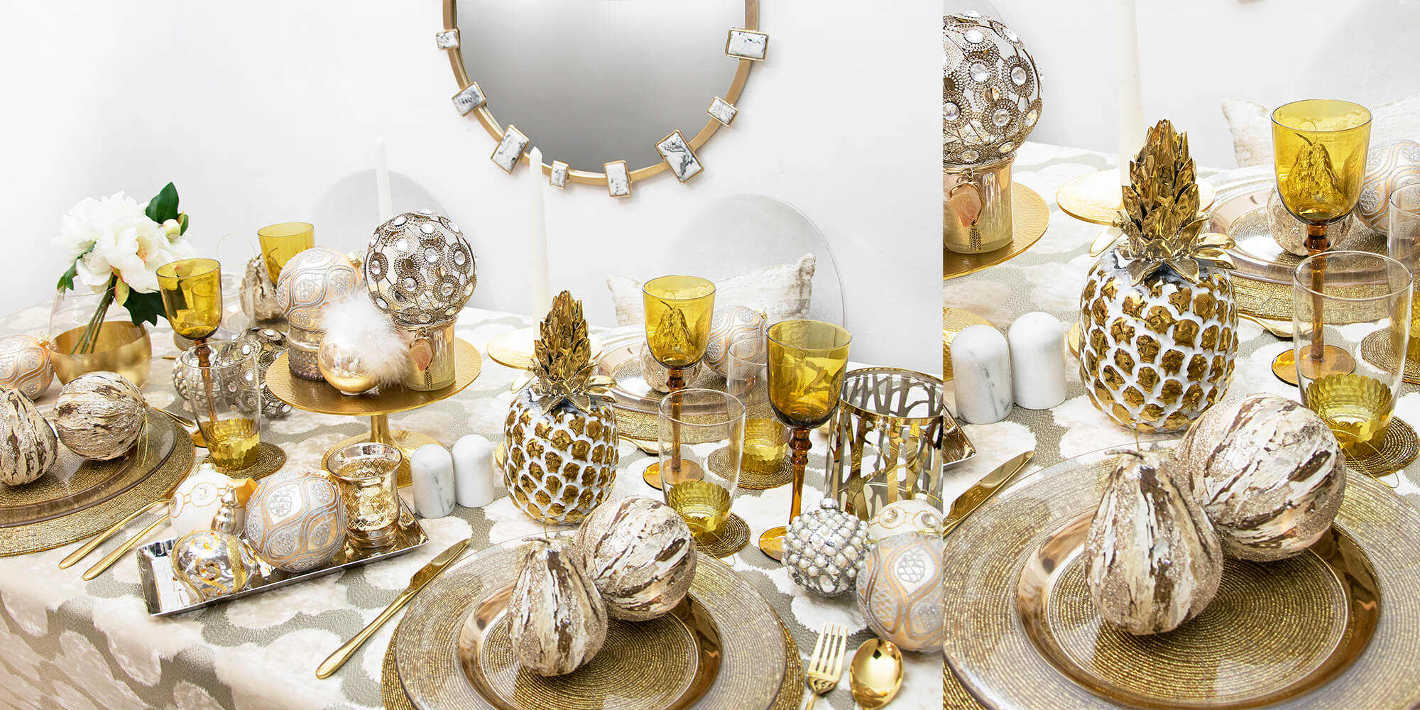 Pure Glam: Dinner in Gold