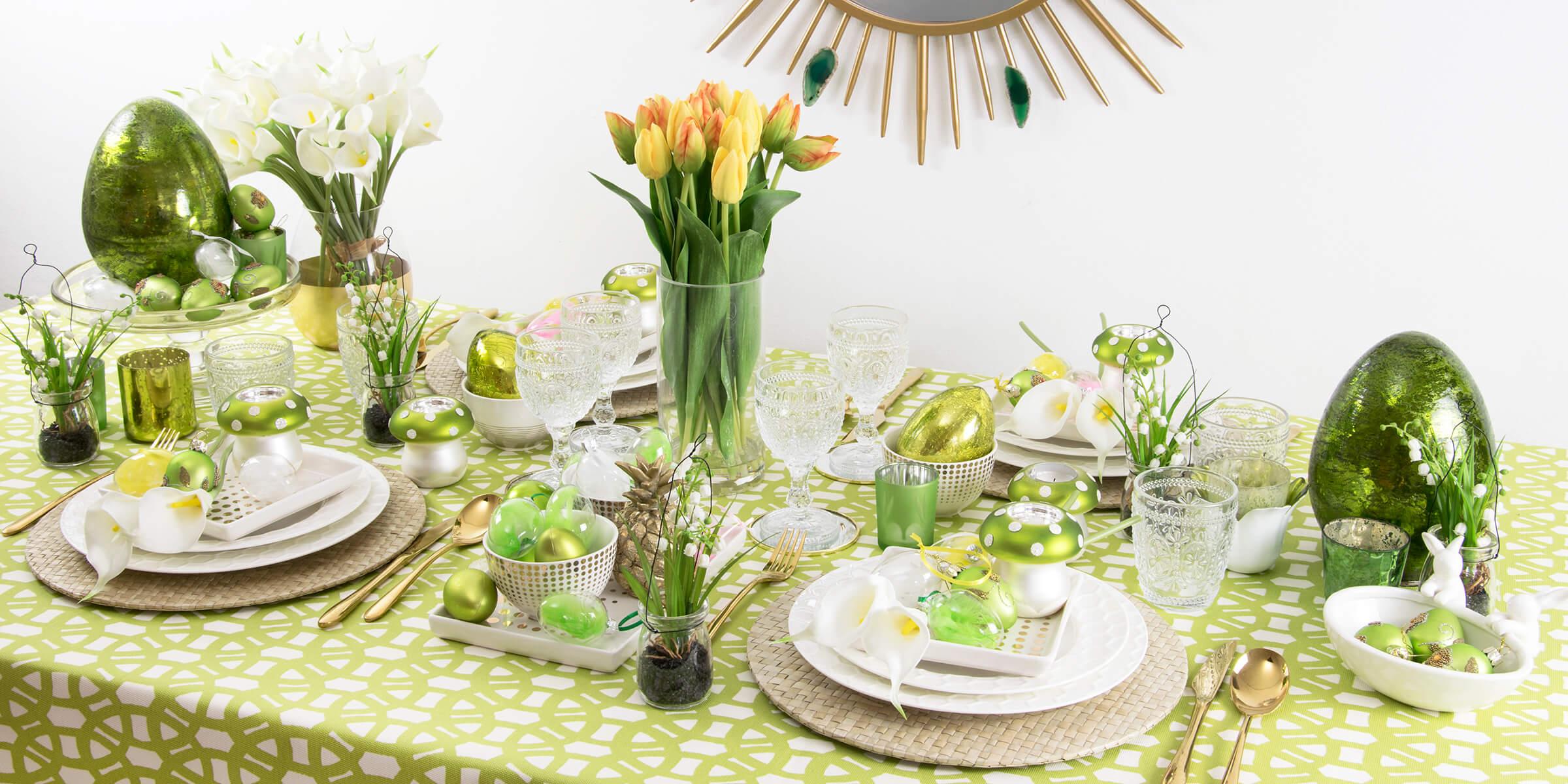 Es wird grün! Knallige Ostertafel