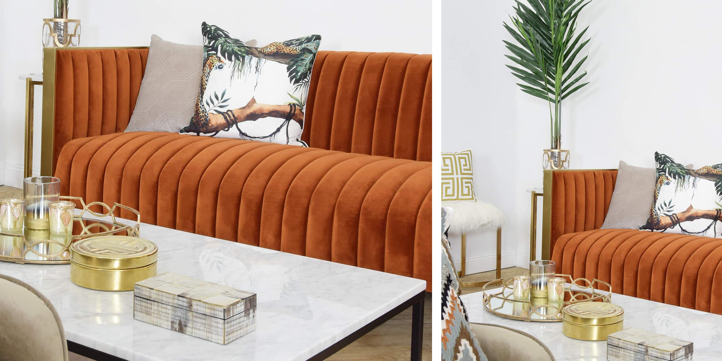 Retro-Sofa im 70s Style
