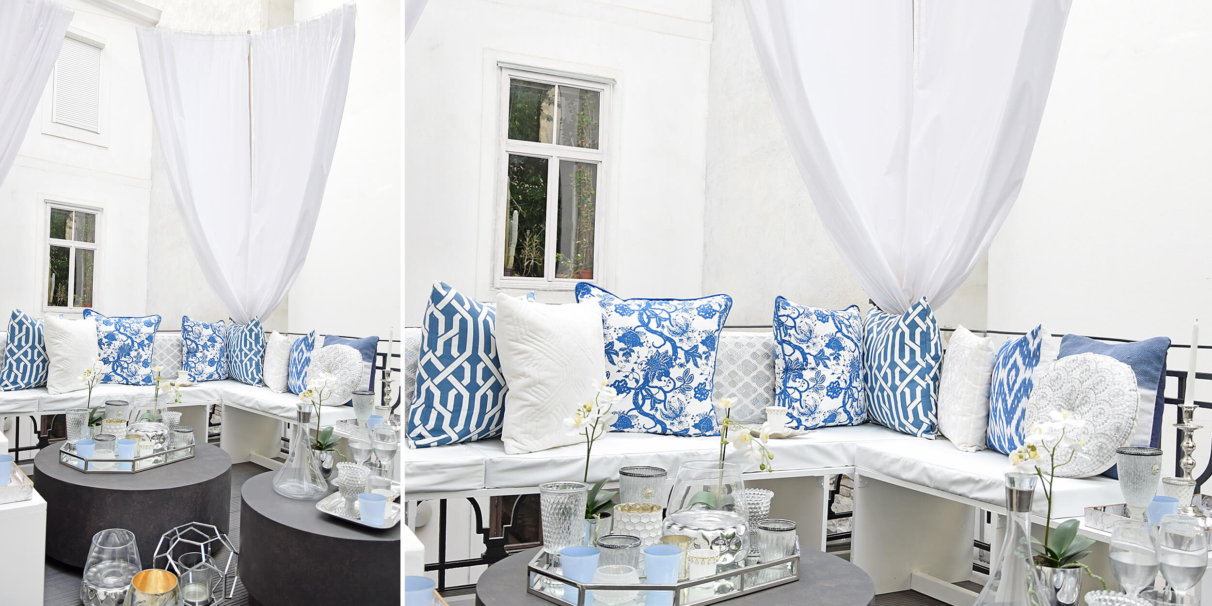 Farb-Mix Weiß, Blau, & Silber