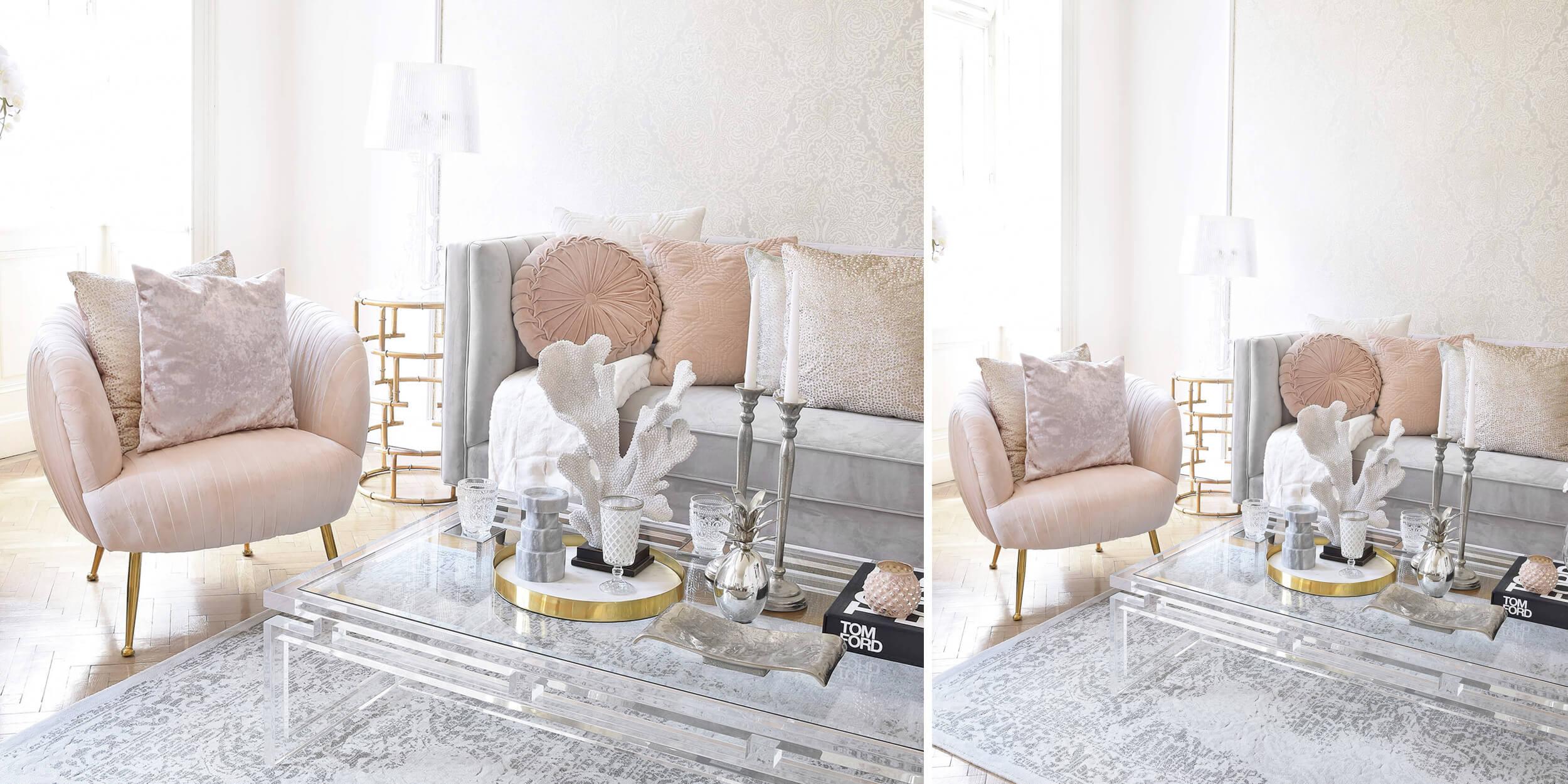 Velvet-Favorites: Sofa & Armlehnsessel