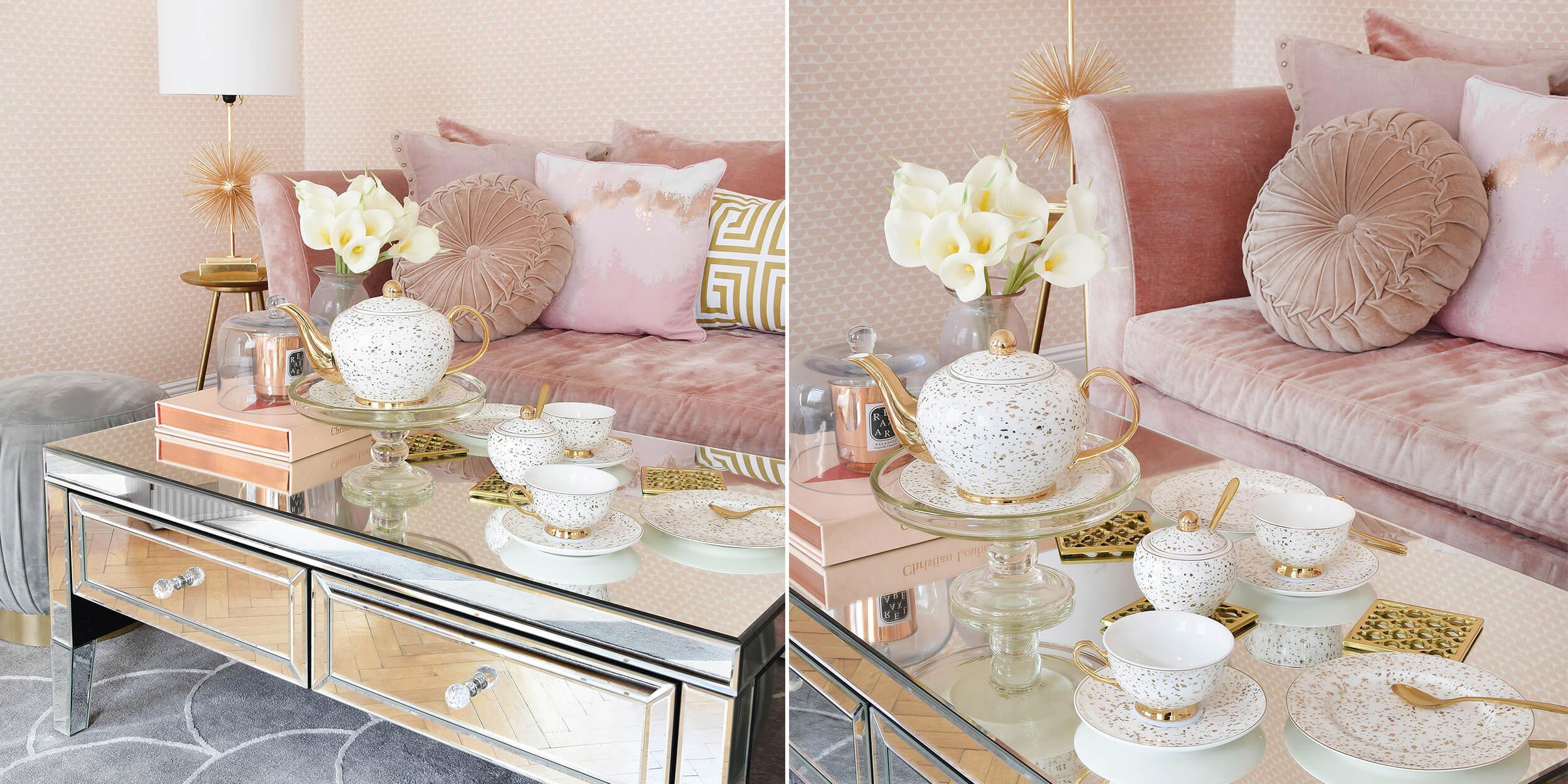 Verspielt & Elegant: Teeservice in Weiß & Gold - #InstaShop