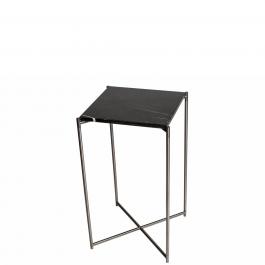 hoher beistelltisch mit schwarzem marmorfinish und. Black Bedroom Furniture Sets. Home Design Ideas