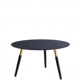 runder retro couchtisch schwarz gold. Black Bedroom Furniture Sets. Home Design Ideas