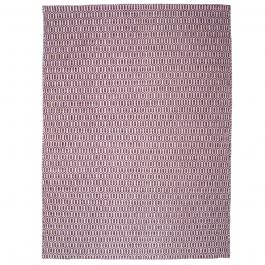 gro er teppich aus pet garn mit musterung lila. Black Bedroom Furniture Sets. Home Design Ideas