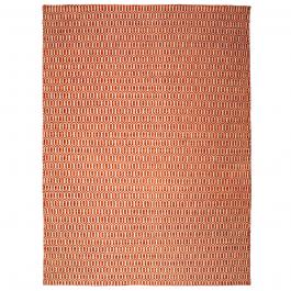 gro er teppich aus pet garn mit musterung orange. Black Bedroom Furniture Sets. Home Design Ideas