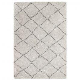 kuscheliger hellgrauer teppich aus feinem garn mit dunkelgrauen linien. Black Bedroom Furniture Sets. Home Design Ideas
