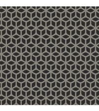 Vliestapete mit geometrischer Musterung, Tapete Trellis mit kleinen Perlen, schwarz
