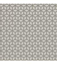 Vliestapete mit geometrischer Musterung, Tapete Trellis mit kleinen Perlen, silber