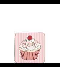 Cupcake Untersetzer für Getränke Bierdeckel in Pink