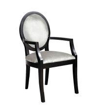 eleganter Samtsessel mit Armlehnen  Stuhl mit Samtbezug silber