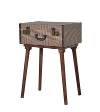Retro Beistelltisch oder Nachttisch im Koffer-Style braun