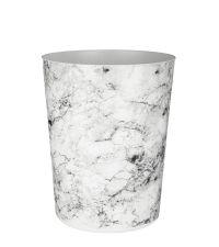 trendiger Abfalleimer mit angesagter Marmor-Optik grau/weiß