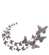 Wandbild Schmetterlinge silber