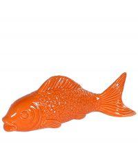 großer Dekofisch aus Keramik Koi orange