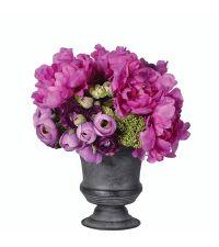 traumhaft farbenfrohes Kunstblumengesteck pink & violett