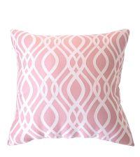 edles Dekokissen mit Wellenmuster von Prestigious Textiles rosa