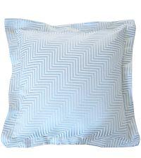 edles Dekokissen mit Chevron-Muster und Stehsaum von Prestigious Textiles blau