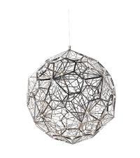 moderne Deckenleuchte kugelförmiger Luster mit geometrischem Muster aus Chrom  LED-Kugel groß