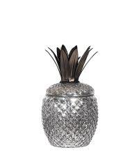 große dekorative Ananas-Dose in Antik-Optik silber