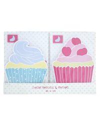 Postkarten in Cupcake-Form 10 Stk. mit Briefumschlag