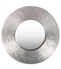 großer runder Wandspiegel mit Teller- Rahmen silber