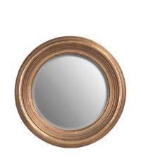 runder Wandspiegel mit goldenem Rahmen in Antik-Optik