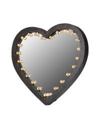 Wandspiegel in Herzform mit Beleuchtung Rahmen mit Metallüberzug