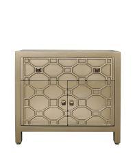 edles handbemaltes goldenes Sideboard mit geometrischem Muster im Art Deco Stil mit orientalischem Flair
