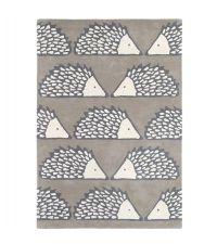 Scion Teppich SPIKE grau Wollteppich 90 x 150 cm 120 x 180 cm oder 140 x 200 cm