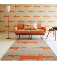 Scion Teppich MR FOX beige Wollteppich 90 x 150 cm 120 x 180 cm oder 140 x 200 cm