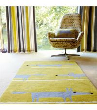 Scion Teppich Mr Fox senfgelb Wollteppich 90 x 150 cm 120 x 180 cm oder 140 x 200 cm