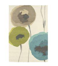Sanderson Teppich Poppies Teal/Olive 45701 Wollteppich 140 x 200 cm 170 x 240 cm oder 200 x 280 cm